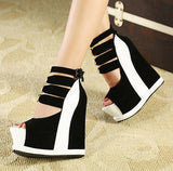 Cosplay Peep Toe Platform Heels (2 Colors) - The Urban Doll
