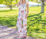 Floral Print Casual Jumpsuit - The Urban Doll