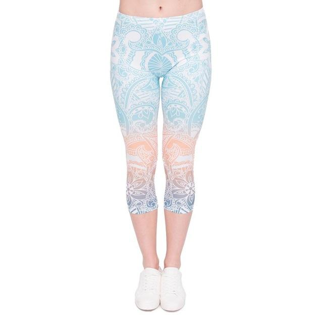 Light Ombre Mandala Capri Leggings - The Urban Doll