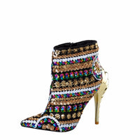 Gold Bling Runway Booties - The Urban Doll