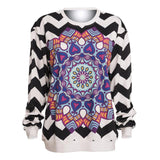 Mandala Chevron Pullover Sweatshirt - The Urban Doll