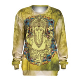 Mandala Elephant Tie Dye Pullover Sweatshirt - The Urban Doll