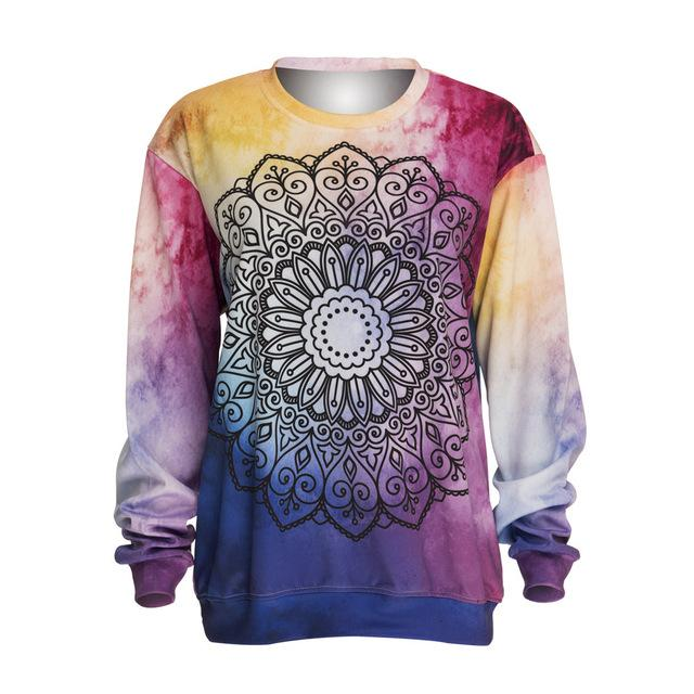 Mandala Tie Dye Pullover Sweatshirt - The Urban Doll