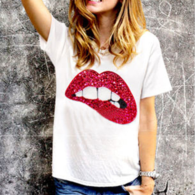 Bite Your Lip T-Shirt - The Urban Doll