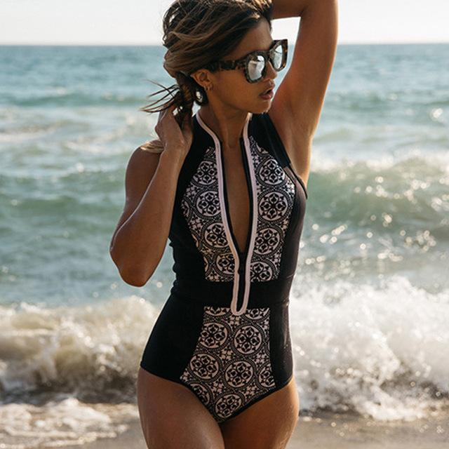 Arabesque Monokini One Piece Swimsuit - The Urban Doll