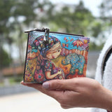 Illustrated Girl Wallet - The Urban Doll