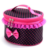 Polka Dot Cosmetic Travel Case - The Urban Doll