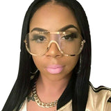 Retro Wrap Aviator Sunglasses - The Urban Doll