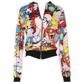 Comic Graffiti Bomber Jacket - The Urban Doll