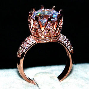 AAAAA CZ Crown Ring by The Urban Doll