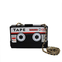 Retro Cassette Tape Crossbody - The Urban Doll