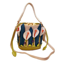 Lilies Flower Bucket Shoulder Bag - The Urban Doll