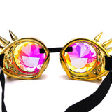 Vintage Retro Round Kaleidoscopic Sunglasses - The Urban Doll