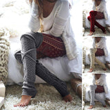 Wool Diamond Cable Knit Bandage Leg Warmers