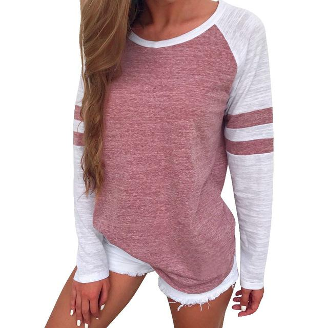 Long Sleeve Stripe Raglan Tee - The Urban Doll