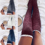 Knit Ruffle Boot Socks - The Urban Doll
