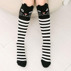 Cat Striped Over The Knee Socks - The Urban Doll