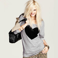 Black Heart Long Sleeved Shirt - The Urban Doll