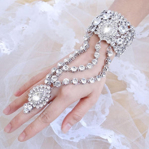 Austrian Crystal Teardrop Bracelet Ring Set (Silver or Gold) - The Urban Doll