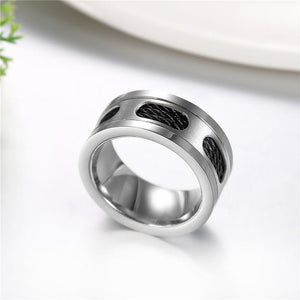 Cable Wire Silver Stainless Steel Ring - The Urban Doll