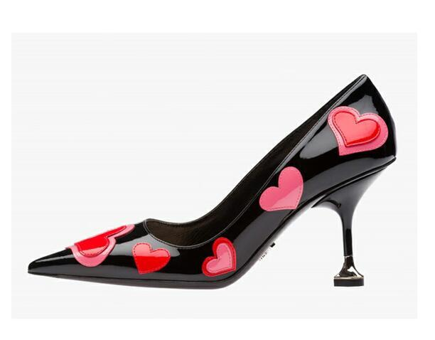 Pointed Heart Pumps - The Urban Doll