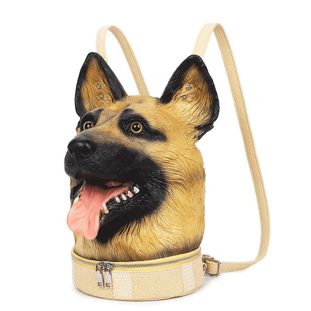 Realistic German Shepherd Head Backpack - The Urban Doll