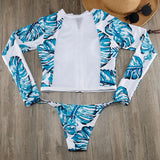 Brazilian Paradise Cropped Rash Guard - The Urban Doll
