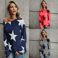 Star Long Sleeve Pullover Top - The Urban Doll