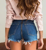 Peekaboo Back Zipper Tassel Denim Shorts - The Urban Doll