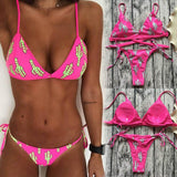 Cactus Micro Brazilian Bikini Set - The Urban Doll