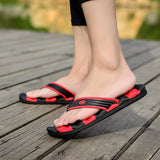 Summer Casual Wide Striped Mens Flip Flops - The Urban Doll