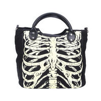 Gothic Luminous Rib Cage Handbag Tote - The Urban Doll