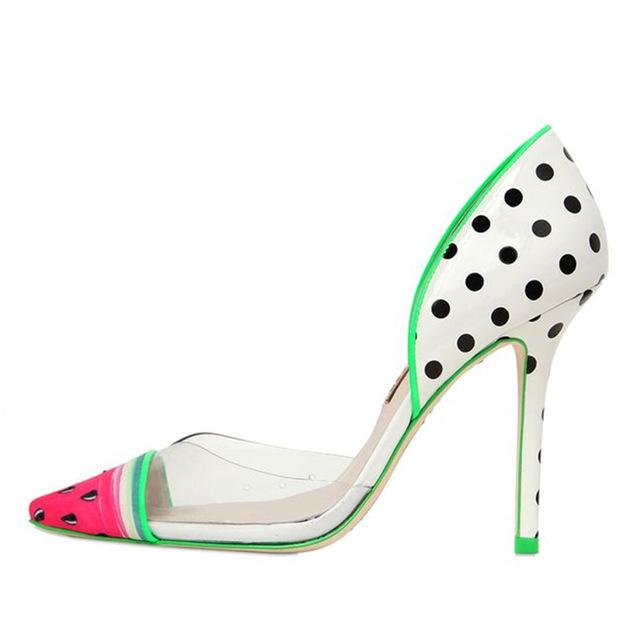 Watermelon Pointed Toe Pumps - The Urban Doll
