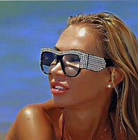 Oversized Crystal Framed Sunglasses - The Urban Doll