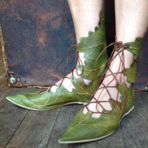 Gladiator Leaf Shoes - The Urban Doll