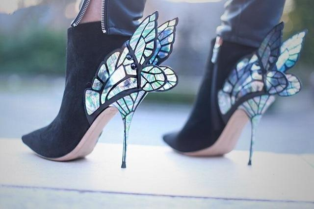 Fairy Wing High Heel Suede Ankle Booties - The Urban Doll