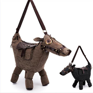 Burro Donkey Canvas Shoulder Bag - The Urban Doll