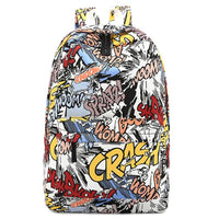 Graffiti Comic Art Backpack - The Urban Doll