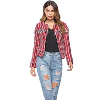 Bohemian Woven Tassel Jacket - The Urban Doll