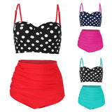 Retro High Waist Two Piece Bathing Suit (3 Colors) - The Urban Doll