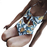 Boho Vintage Floral One Piece Swimsuit - The Urban Doll