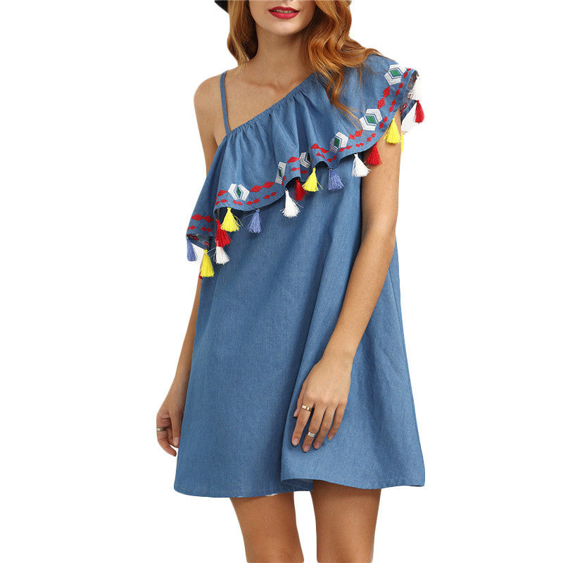Boho Tassel Dress - The Urban Doll