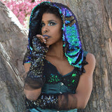 Magical Color Changing Reversable Sequin Hood - The Urban Doll