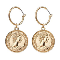 Vintage Coins Dangle Earrings