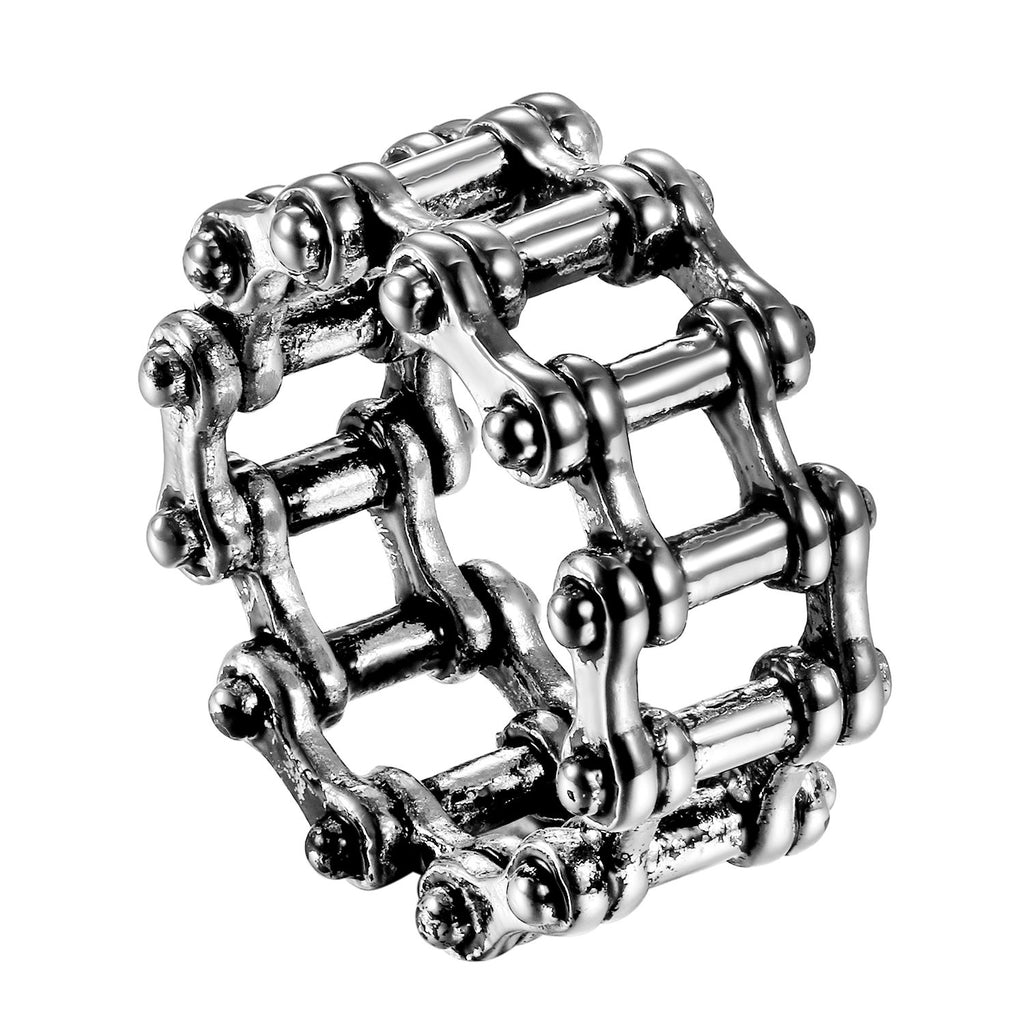 Bike Chain 316L Stainless Steel Ring - The Urban Doll