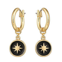 Celestial Star Black Enamel Charm Earrings - The Urban Doll