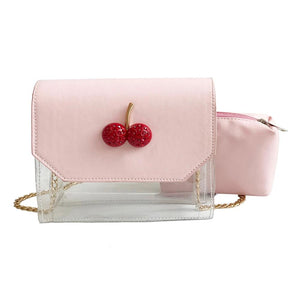Cherry Semi Transparent Mini Shoulder Bag (4 Colors) - The Urban Doll