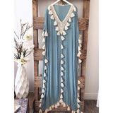 Bohemian Tassel Long Beach Dress - The Urban Doll