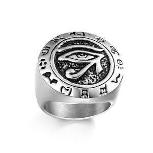Eye Of Horus Stainless Steel Ring - The Urban Doll