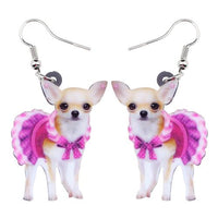 Chihuahua Novelty Drop Earrings (2 Variants) - The Urban Doll